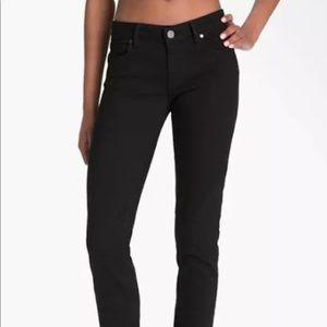 PAIGE - Denim Skinny Stretch Jeans - 24 - Black